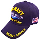United States Navy Veteran Hat Baseball Cap (Navy Submarine)