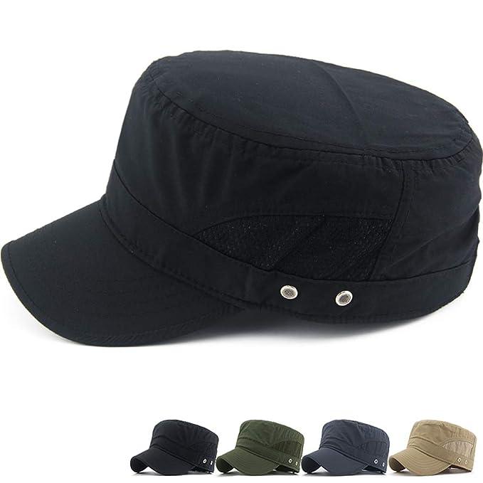 Men Fishing Outdoor Sports Baseball Casual Flat-Brimmed Hat Quick-Drying Cap