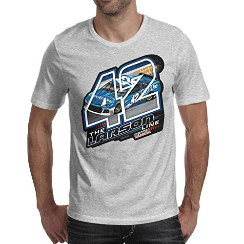 SHTHYTS Grey Fans 100% Cotton O-Neck Short Sleeve Tee Shirts for Mens (Fan Club Nascar)