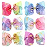 Royarebar Diverse Styles Hair Decorations 6PCS Kids Infant Hairpin Personality Sequins Hair Clips Cute Bow Cartoon Motifs Party Hair Clip