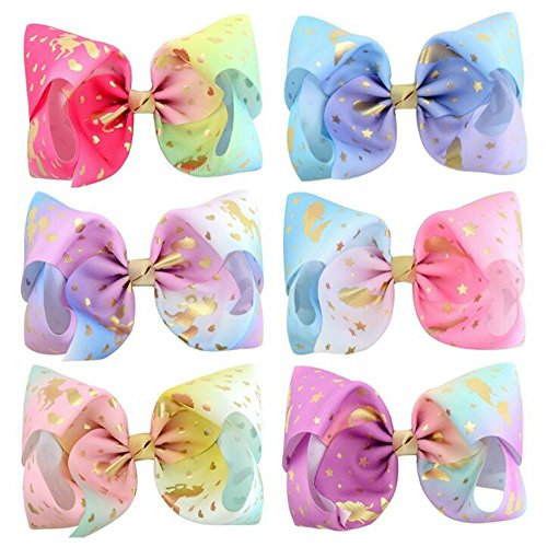 Royarebar Diverse Styles Hair Decorations 6PCS Kids Infant Hairpin Personality Sequins Hair Clips Cute Bow Cartoon Motifs Party Hair Clip by Royarebar