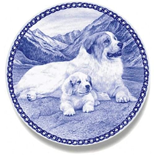 Great Pyrenees - Dog Plate made in Denmark from the finest European Porcelain. Premium Quality and Design from Lekven. Perfect Gift For all Dog Lovers. Size - 7.61 ()