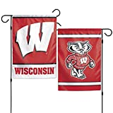 Wincraft, NCAA Wisconsin Badgers Garden Flag, 12'x18', 2-Sided, Team Color