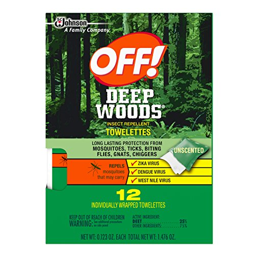Off! Deep Woods Insect Repellent Towelettes 12ea (Towelettes Wood)