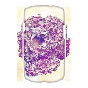 ALICASE Cover Case Skull 3D Diy For Samsung Galaxy S3 I9300 [Pattern-1]