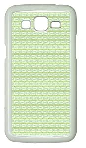 Cyan Fish bone Polycarbonate Hard Case Cover for Samsung Grand 2/7106 White