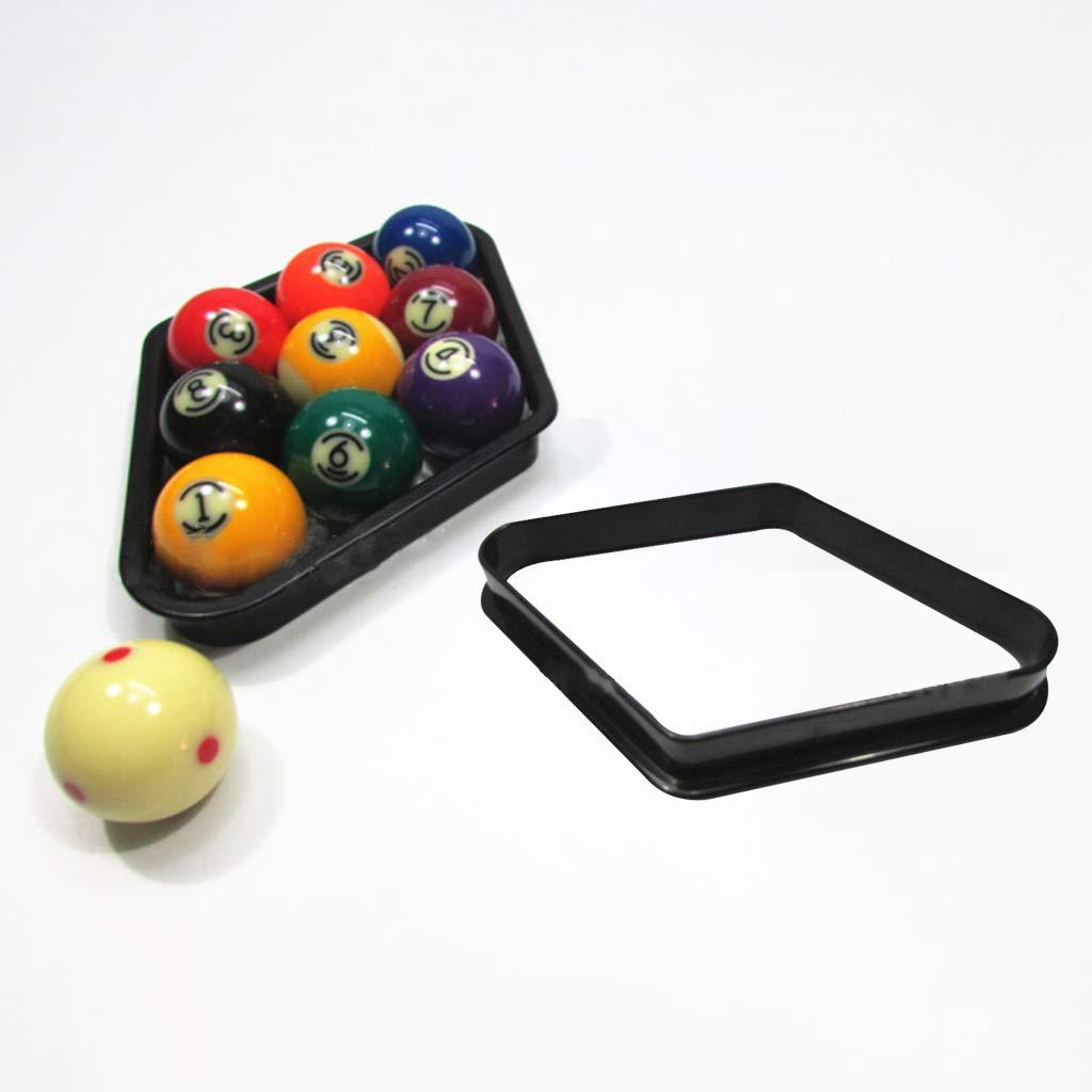 ruiruiNIE Forma de rombo de pl/ástico Bolas de Billar Americanas Organizar Racks robustos Juego de Billar Snooker Accesorio de Almacenamiento Negro