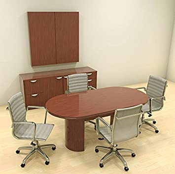 Amazoncom Wood Modern Feet Racetrack Conference Table OTVET - 6 foot conference table