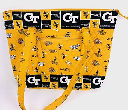 (bagamore collection Georgia TECH Tote Bag-Georgia TECH Yellow Jackets Tote Bag-Georgia TECH Quilted Bag)