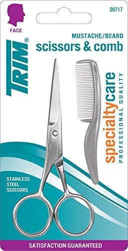 Trim Specialtycare Mustache/Beard 00717 Scissors and Comb, 1 St