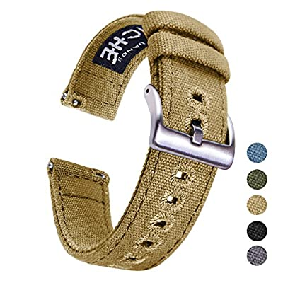 Ritche Canvas Quick Release Watch Band 18mm 20mm 22mm Replacement Watch Straps for Men Women from Ritche