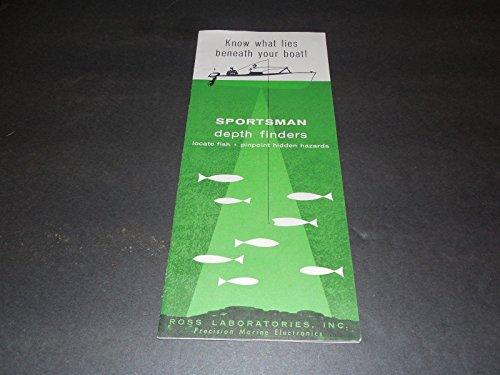 - Sportsman Depth Finders Brochure Price Guide Ross Labs Unk Year 1960's?
