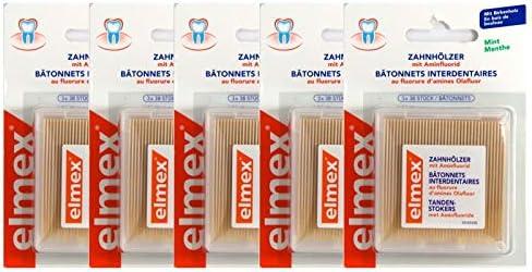 5x Elmex Zahnhoelzer 3X38St PZN: 5918464 Zahnstocher Aminfluorid 114 A d