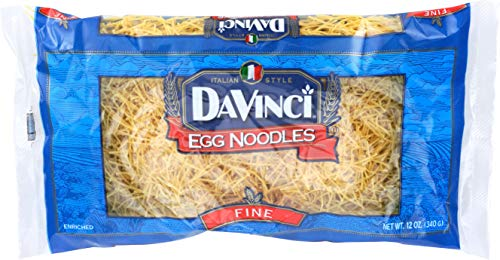 DaVinci Egg Noodles Fine, 12-ounces (Pack of12) (Da Vinci Pasta)