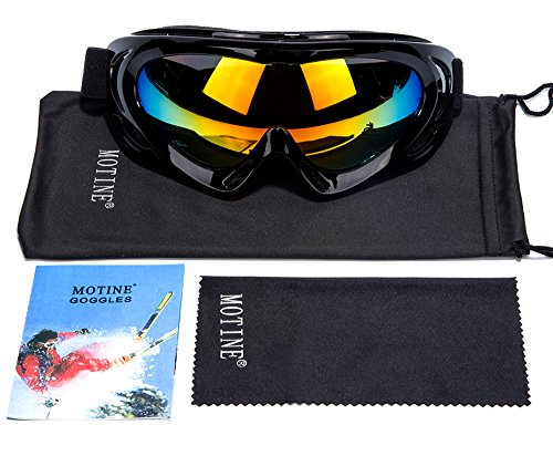 MOTINE Outdoor Sports Ski Goggles,UV Protection Windproof Ski Glasses for CS Army Tactical Military,Snowmobile,Bicycle,Motorcycle - Prescription Sunglasses Inserts Cycling With