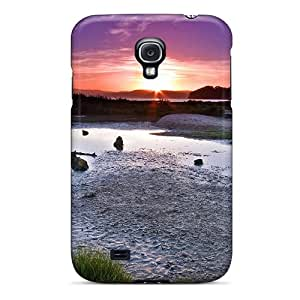 New Premium Flip Case Cover Lake Sheep At Twilight Skin Case For Galaxy S4