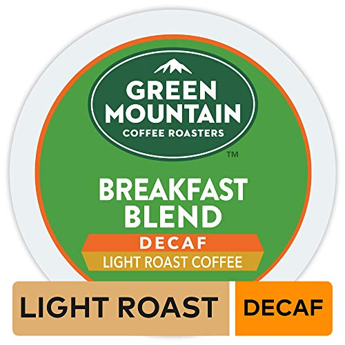 Green Mountain Coffee Roasters Breakfast Blend Decaf, Single Serve Coffee K-Cup Pod, Light Roast, 32 (Green Mountain Nantucket Blend K Cups Best Price)