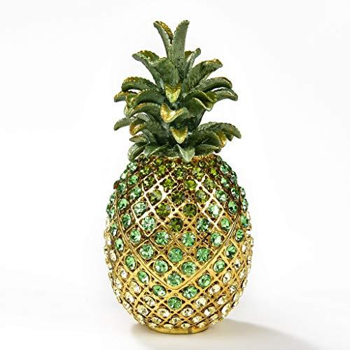 KALIFANO Jeweled Pineapple Gift Box Made with Swarovski Crystals