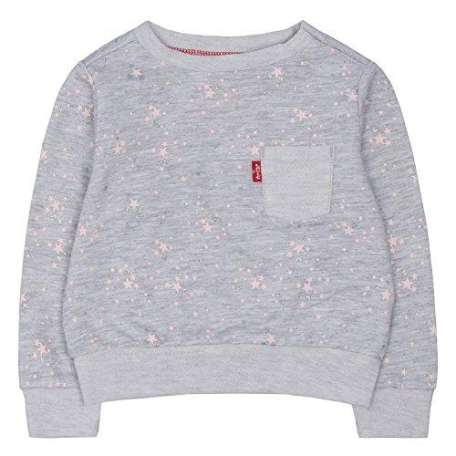 Levi's Baby Girls' Sleeve Knit Top, Lunar Rock Heather, 6/9M