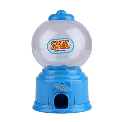 Mini máquina de golosinas de plástico Burbuja Dispensador Gumball Moneda Banco Juguete para niños Gumballs Cacahuetes