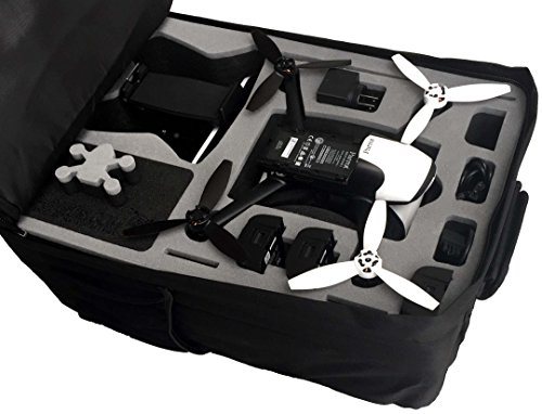 Professional backpack fits for Parrot Bebop 2 with Sky Controller 2 and googles made by MC-CASES - Excellent Cases - THE ORIGINAL (Parrot Bebop 2 FPV, colour black)