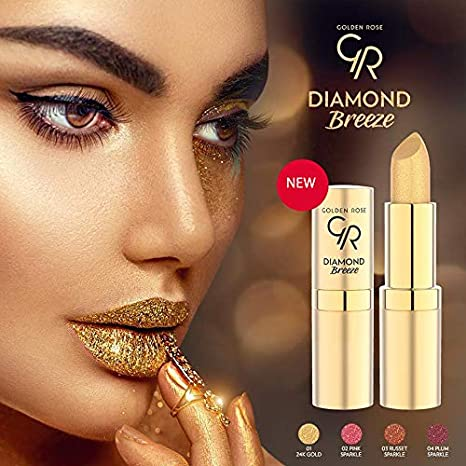 Amazoncom Golden Rose Diamond Breeze Shimmering Lipstick 01 24k