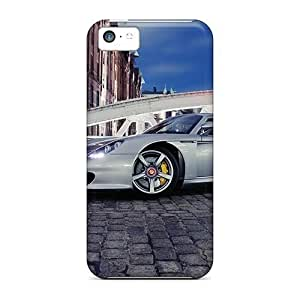 Hot Covers Cases For Iphone/ 5c Cases Covers Skin - Porsche Carrera Gt On A Bridge