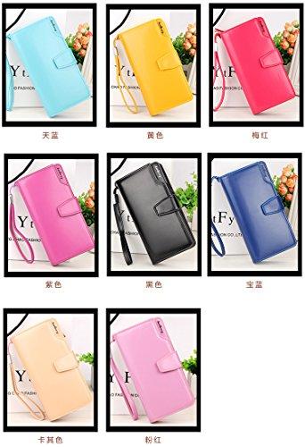 Damen Leder Geldbörsen Taschen Damen Portemonnaie Damen Geldbeutel Damenhandtasche,Brieftasche Kreditkartenetui Wallet,RFID-Diebstahlschutzmappe. Abschirmmaterial auswählen C