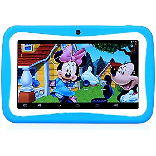 SainSonic M755 7 inch A33 Quad Core Google Android 4.4 HD Education Children Tablet, Tablets for Kids, with Dual Camera, Google Play Pre-load Coupons