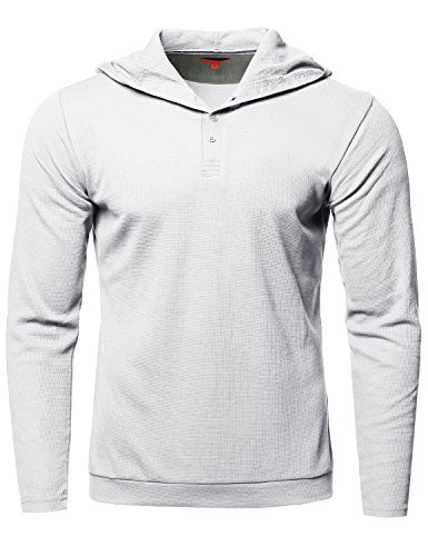 Premium Quality Thermal Hooded Long Sleeve T-Shirt White Size XL (Quality Thermal)