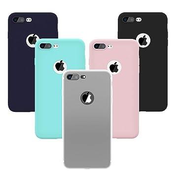 Yokata Funda para iPhone 7 Plus / iPhone 8 Plus, Carcasa Silicona Gel Mate Case Ultra Fina Delgado TPU Flexible Protección Anti-Arañazos Cover [5 ...