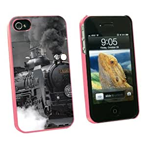 Graphics and More Steam Train Engine Locomotive - Snap On Hard Protective Case for Apple iPhone 6 4.7 - Pink - Carrying Case - Non-Retail Packaging - Pink