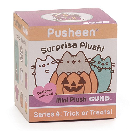 GUND Pusheen Surprise Series #4 Halloween Stuffed Animal Cat Plush, -