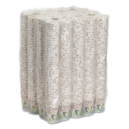 Dixie PerfecTouch 8oz Insulated Paper Hot Cups, Disposable Coffee Cups, 5338CD, Coffee Haze, 20 Sleeves of 50 Cups (1000 Cups Total)
