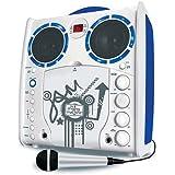 Portable SML-383 CDG Karaoke Player - White Blue