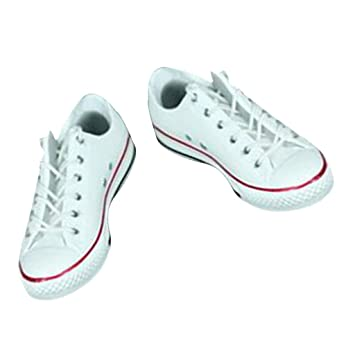 MagiDeal 1 6 Lace Up Canvas Shoes Flat Heel Sneakers for 12   Action Figure  White  Amazon.co.uk  Toys   Games ddbf118d4d6a
