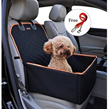 Pet Front Seat Cover for Cars Black Waterproof Dog Seat Cover Durable Nonslip Hammock Style Dog Car Protector Back Seat Cushion for All Cars Truck SUV