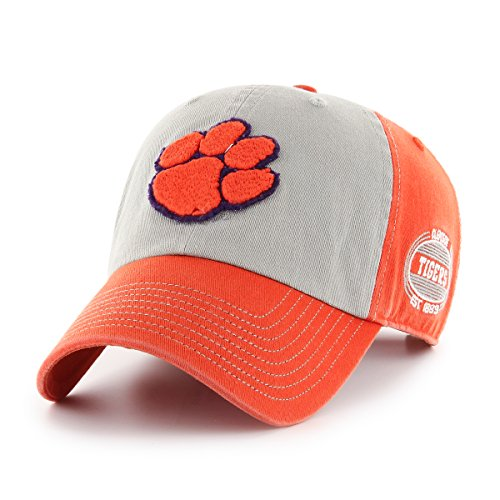 NCAA Clemson Tigers Adult NCAA Tuscon Ots Challenger Adjustable Hat, One Size, Orange
