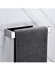 Lolypot Wieszak na ręczniki, ze stali nierdzewnej 304, wieszak ścienny na ręczniki, drążek na ręczniki, akcesoria łazienkowe do łazienki (bez wiercenia, lustro, chrom wieszak na ręczniki B)