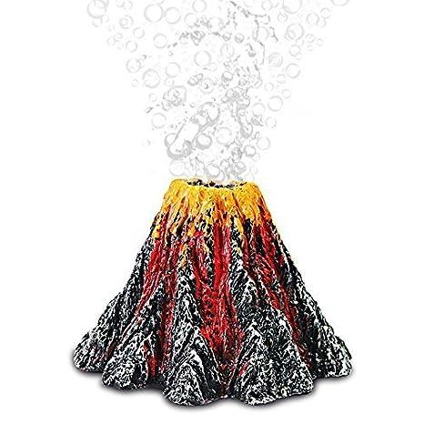 W&X - Bomba de oxígeno para Acuario, Forma de volcán y Burbujas de Aire,