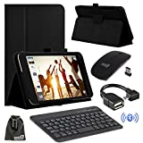 EEEKit 4in1 Office Kit for ASUS MeMO Pad 7 LTE, Case, Wireless Bluetooth Keyboard,OTG Cable, 2.4G Wireless Optical Mouse