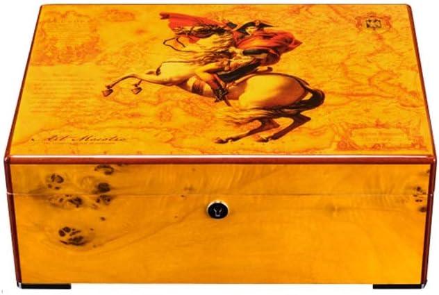 Wen Ying Caja de Puros Caja de Puros 50 Humidor de cigarros de Pino Colección de Artistas Humidificador de cigarros de Grado Grado humidor: Amazon.es: Hogar