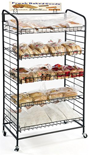 Displays2go Baker's Rack with 5-Adjustable Shelves, 29-Inch by 51-Inch, Steel, Black by Displays2go (Image #6)
