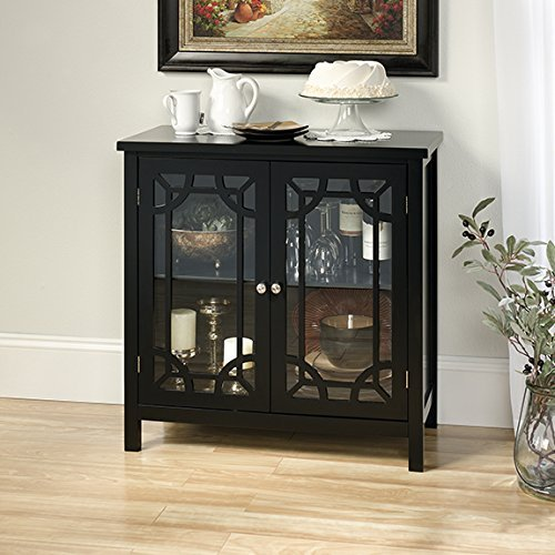glass accent cabinet - 3