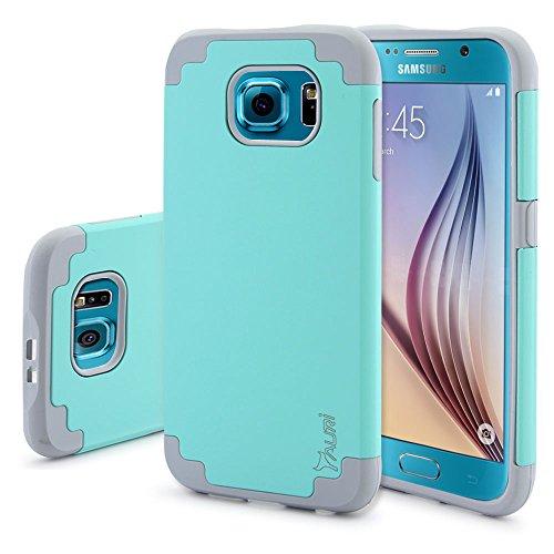 S6 Case, Tauri [Dual Layer] Samsung Galaxy S6 [Slim Thin] Hybrid Armor Defender Case Cover For Samsung Galaxy S6 - Mint