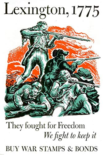 Lexington They Fought for Freedom WPA War Propaganda Mural Giant Poster 36x54 inch