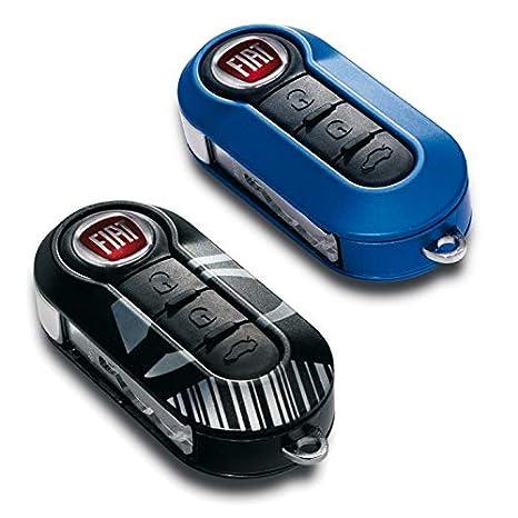 Genuine Fiat 500 Azul y Negro Llavero de código de barras ...
