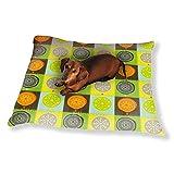 Citrus Patchwork Dog Pillow Luxury Dog Cat Pet Bed