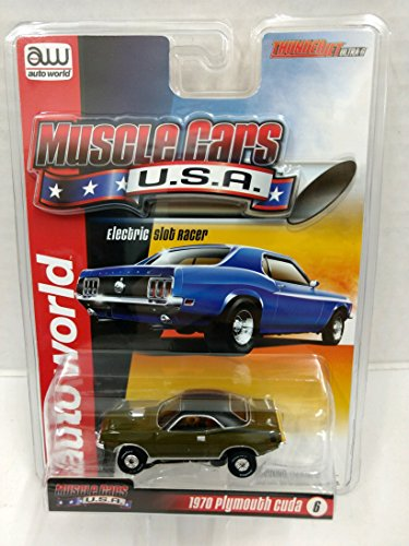 Auto World SC320 Muscle Cars USA 1970 Plymouth Cuda HO Scale Electric Slot Car - (Ho Slot Car Chassis)