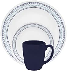 Corelle Livingware 76-Piece Dinnerware Set, Service for 12, City ...